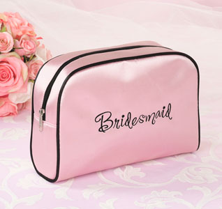 Bridesmaid Pink Travel Cosmetic Bag