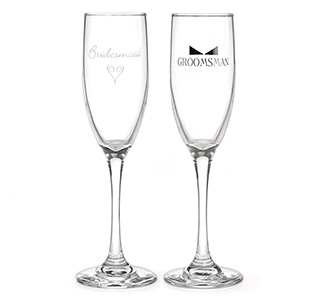 Bridesmaid and Groomsman Toasting Flutes
