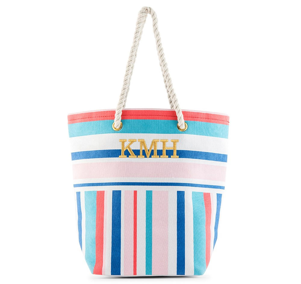 850260b8dde6 Bright Stripes Bridesmaid Tote Bag