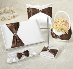 Brown Sash Wedding Set
