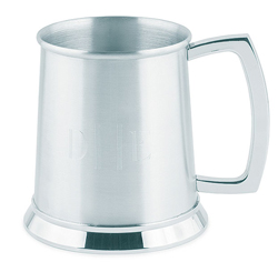 Brushed Finish Stainless Steel Personalized Tankard Wedding Gift