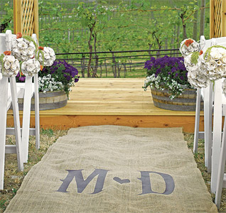 Burlap-Aisle-Runner-with-Vineyard-Monogram-m.jpg