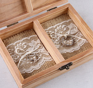 burlap and lace ring box inserts - Wedding Ring Box