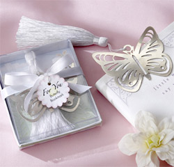 Butterfly Silver-Metal Bookmark Wedding Favors