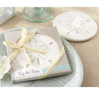 By The Shore Sand Dollar Coasters Wedding Favors