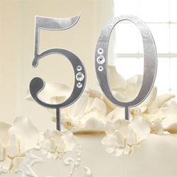 Rhinestone Wedding Anniversary or Birthday Cake To Numbers