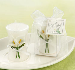 Calla Lily Elegance Vase Shaped Tealight Candle Wedding Favor
