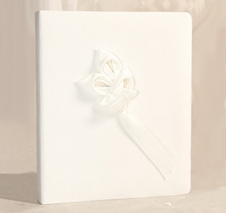 Calla Lily White Wedding Memory Book