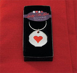Card Suits Lucky in Love Las Vegas Wedding Favor Key Chains