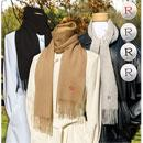 Personalized Cashmere Scarf in Black, Grey, and Tan