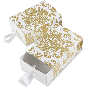 Gold Favor Boxes & Bags