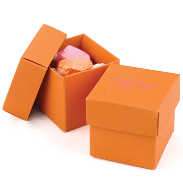 Orange Favor Boxes & Bags