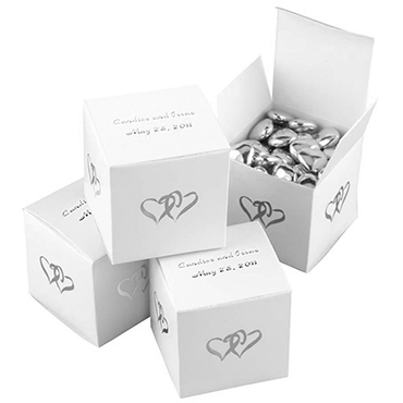 White Favor Boxes & Bags