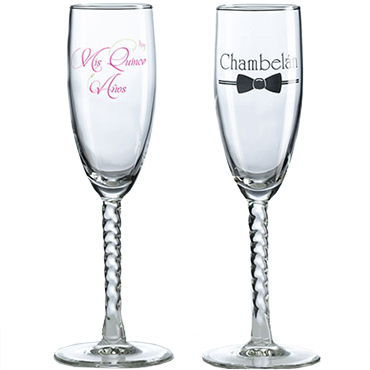 Quinceanera Flutes and Server Sets