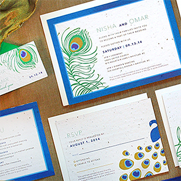 Peacock Plantable Stationery