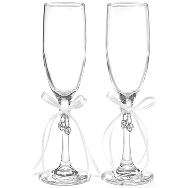 Embellished Toasting Glasses