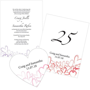 Contemporary Hearts Stationery