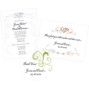 Heart Filigree Stationery