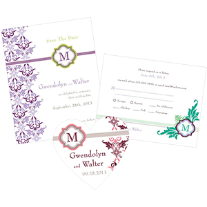 Lavish Monogram Stationery