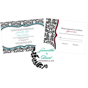Love Bird Damask Stationery
