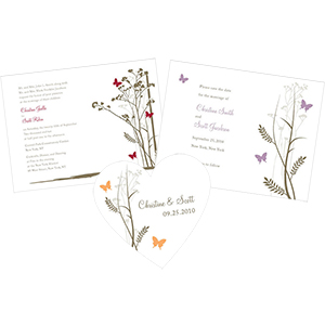 Romantic Butterfly Stationery
