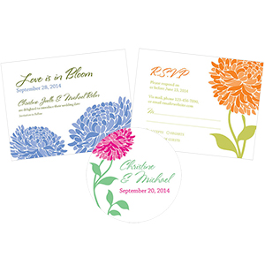 Zinnia Bloom Stationery