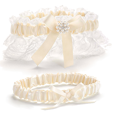 Ivory Bride and Groom Accessories