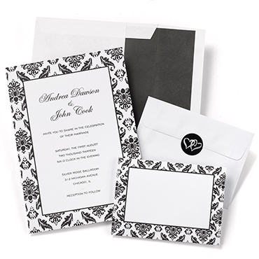 Damask Wedding Stationery