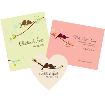 Love Bird Wedding Stationery