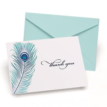 Peacock Theme Wedding Stationery