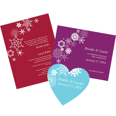 Winter Theme Wedding Stationery