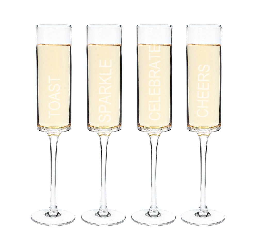 celebrate contemporary champagne flutes  wedding champagne glasses - contemporary champagne flutes  (set of )
