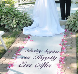 Personalized Celebrations Wedding Aisle Runners