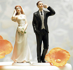Custom Cell Phone Bride and Groom Wedding Caketop Figurines