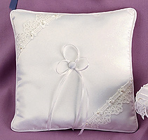 Celtic Love Knot White Lace Wedding Ring Bearer Pillow
