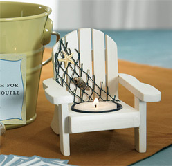 Wooden Beach/ Deck Chair Candle Holders for Wedding Favors