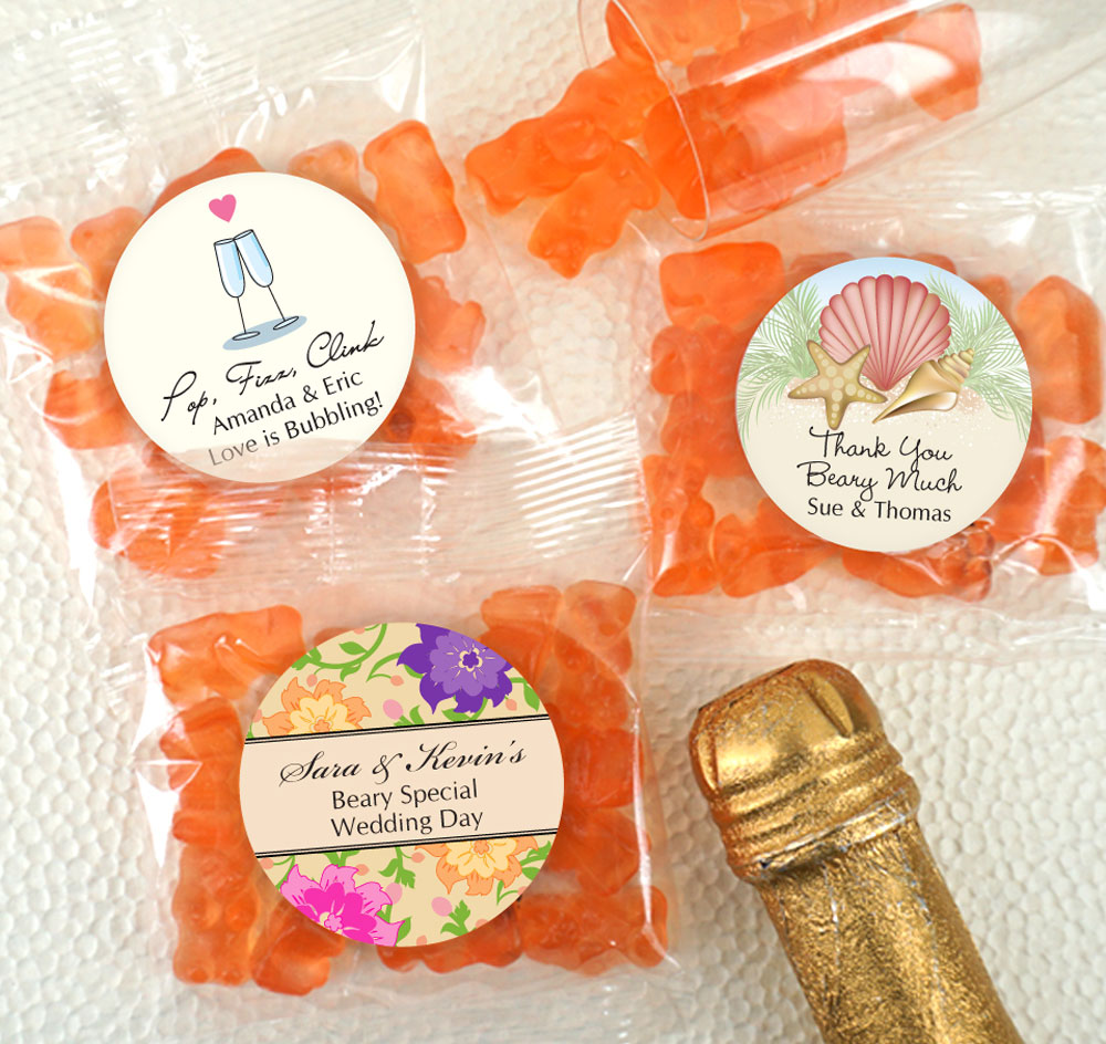 Champagne Gummy Bear Favors Personalized Gummy Bear Favors