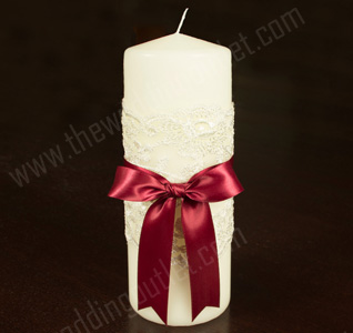 Chantilly Lace Unity Candle