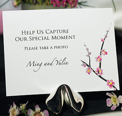 Personalized Cherry Blossom Wedding Camera Table Sign