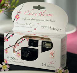 Cherry Blossom Disposible Cameras for Wedding Guests