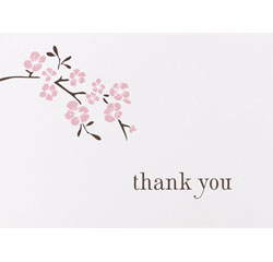 Cherry Blossom Thank You Cards