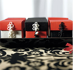 Chinese Buttons For Favor Boxes Black and White and Ivory