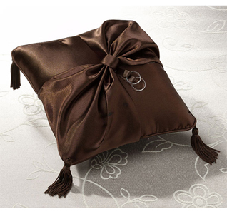 Brown Wedding Ring Bearer Pillow