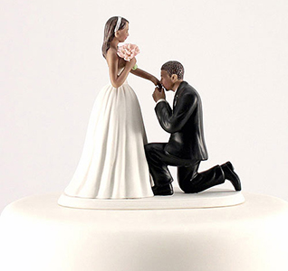 Cinderella Moment Bride and Groom Wedding Cake Top