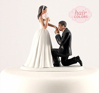 Wedding cake toppers wedding cake tops a cinderella bride groom cake top medium skin tone junglespirit Choice Image