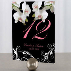 Classic Orchid Table Numbers