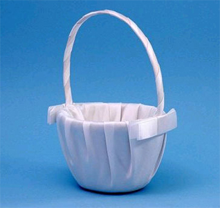 Classique White or Ivory Wedding Flower Girl Basket