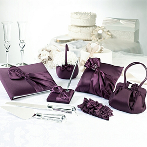 Plum Purple Satin