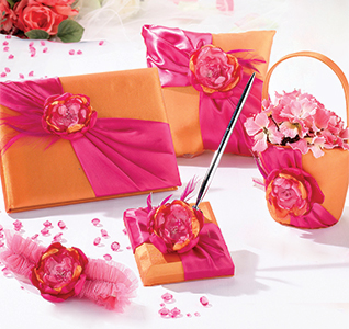 Hot Pink And Orange Wedding Collection Set