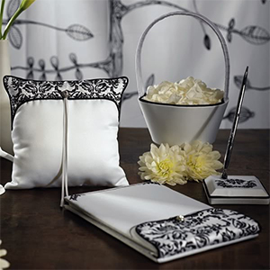 Love Bird Damask in Classic Black and White